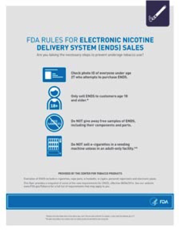 FDA rules for ENDS sales